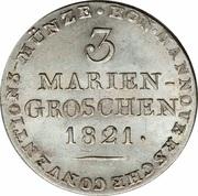 3 Mariengroschen - Georg IV – revers