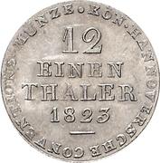 1/12 thaler George IV – revers
