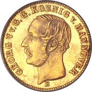 2½ Thaler - Georg V – avers