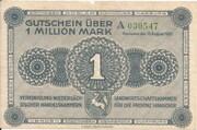1,000,000 Mark (provincial joint issue of Handelskammer, Landwirtschaftskammer and Handwerkskammer Hannover) – avers
