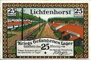 25 Pfennig (Lichtenhorst - Kriegs Gefangenen Lager) – avers
