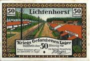 50 Pfennig (Lichtenhorst - Kriegs Gefangenen Lager) – avers