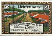 75 Pfennig (Lichtenhorst - Kriegs Gefangenen Lager) – avers