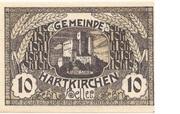 10 Heller (Hartkirchen) – avers