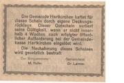 20 Heller (Hartkirchen) – revers
