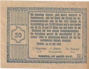 50 Heller (Haslach) -  revers