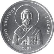 1 Dram (Saint Grégoire) – revers