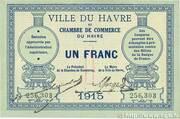 1 franc - Ville et Chambre de Commerce du Havre [76] (1e-2e émission) – avers