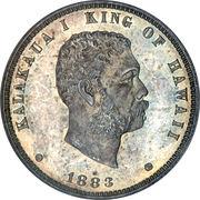⅛ dollar - Kalākaua I – avers