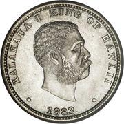 ¼ dollar - Kalākaua I – avers