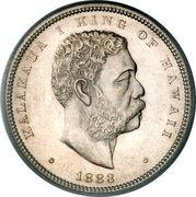 ½ dollar - Kalākaua I – avers