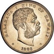 1 dollar - Kalākaua I – avers