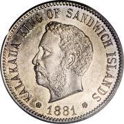 5 cents - Kalākaua I – avers