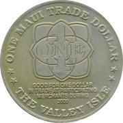 One Maui Trade Dollar – revers