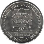2008 Maui Trade Dollar – revers