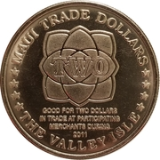 2011 Maui Trade Dollar – revers