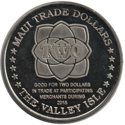 Maui - Two Trade Dollars – revers