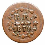 1879 12 1/2 cents Kahului & Wailuku Railroad Token – revers