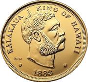 1 Dollar - Kalākaua (Souvenir Token) – avers