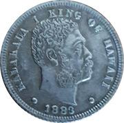 Replica - ⅛ Dollar - Kalākaua I (Hawaii) – avers