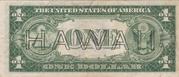 1 Dollar (Silver Certificate; Brown Seal - Hawaii) – revers