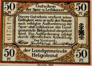 50 Pfennig (Helgoland; Spar- und Leihkasse der Landgemeinde Helgoland) – avers