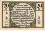 20 Pfennig (Spar- und Leihkasse) – avers
