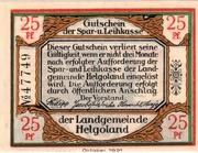25 Pfennig Spar- und Leihkasse) – avers