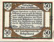 50 Pfennig (Spar- und Leihkasse) – avers