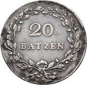 20 batzen – revers
