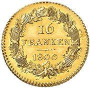 16 franken – revers