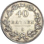 40 Batzen (head facing left) – revers