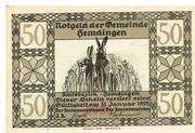 50 Pfennig (Hemdingen) – avers