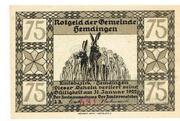 75 Pfennig (Hemdingen) – avers