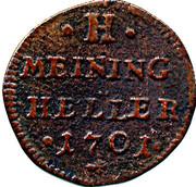 1 heller Bernhard III. – revers