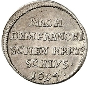 2 Kreuzer - Bernhard (Ausbeute) – revers