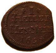 1 heller Bernhard von Sachsen-Meiningen 1680-1706 – revers