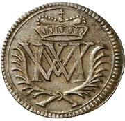 1 Heller - Moritz Wilhelm von Sachsen-Zeitz – avers