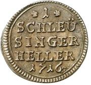 1 Heller - Moritz Wilhelm von Sachsen-Zeitz – revers