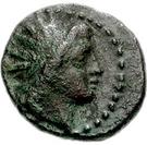 Bronze Æ15 (Hephaistia) – avers