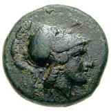 Bronze Æ16 (Hephaistia) – avers