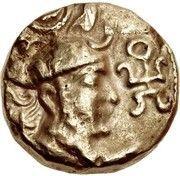 Dinar - Unknown hunnic chieftain (Sassanian style, Peroz I imitation, Sind mint) – avers