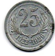 25 Centimes Chambres de commerce de l'Herault [34] – revers