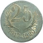 25 centimes - Chambre de Commerce de l'Herault (Zinc, dates proches) [34] – revers
