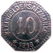 10 pfennig - Hersfeld – revers