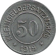 50 pfennig - Hersfeld – revers