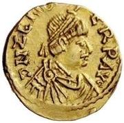 1 tremissis Odovacar / Au nom de Zeno, 476-491 (avec nœud) – avers