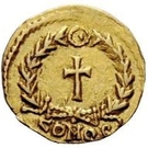 1 tremissis Odovacer / Au nom de Zénon, 476-491 (avec nœud) – revers