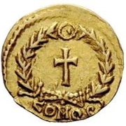 1 tremissis Odovacar / Au nom de Zeno, 476-491 (avec nœud) – revers