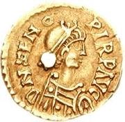 1 tremissis Odovacar / Au nom de Zeno, 474-491 (avec deux Xs; avec anneau) – avers